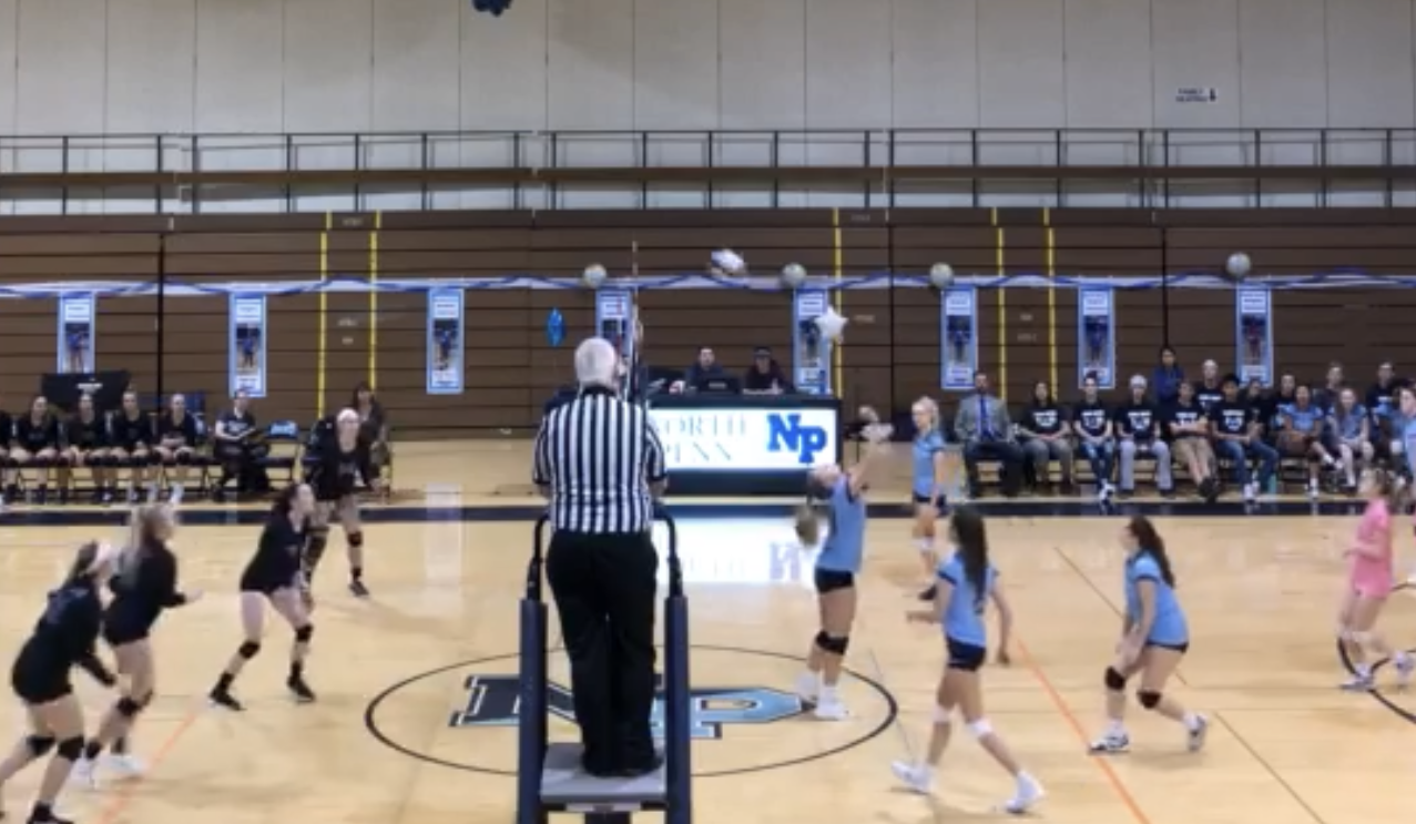 The girls' volleyball team took down the Panthers of Quakertown in straight sets