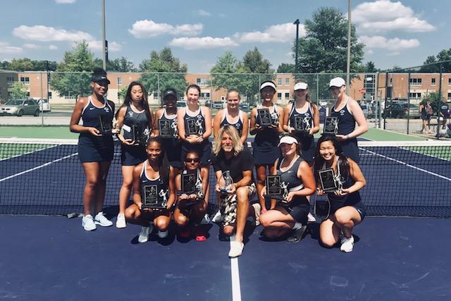 Girls Tennis Team after completing their regular season.