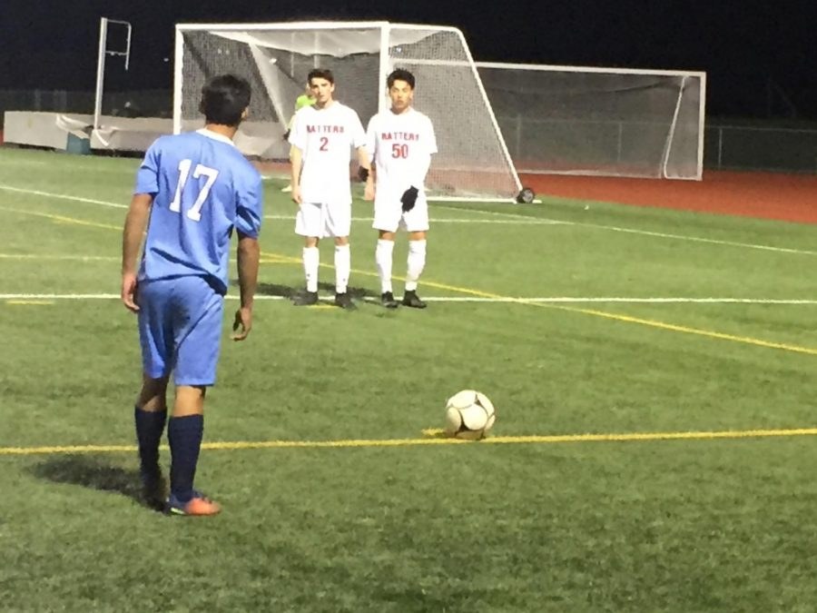 Junior Danny Sanchez gets ready to cross the ball for the Knights