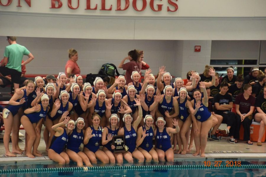 Girls+Water+Polo+team+after+winning+the+state+title+5+years+in+a+row.+