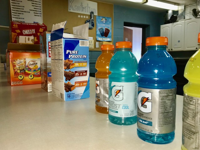 Replenish, Refuel, Repeat. The Knights Knutrition after school concession stand offers a variety of options for those in need of an afternoon boost.