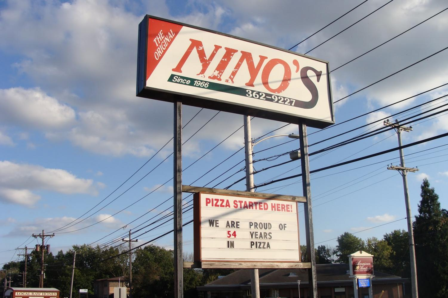 WANT SOME PIZZA? - The Nino's Pizza sign greets customers in Lansdale.