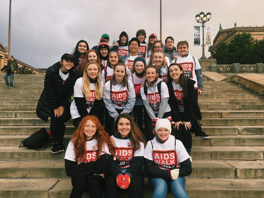 North+Penn+Thespian+Troupe+poses+for+a+picture+at+the+Philly+Aids+Walk.