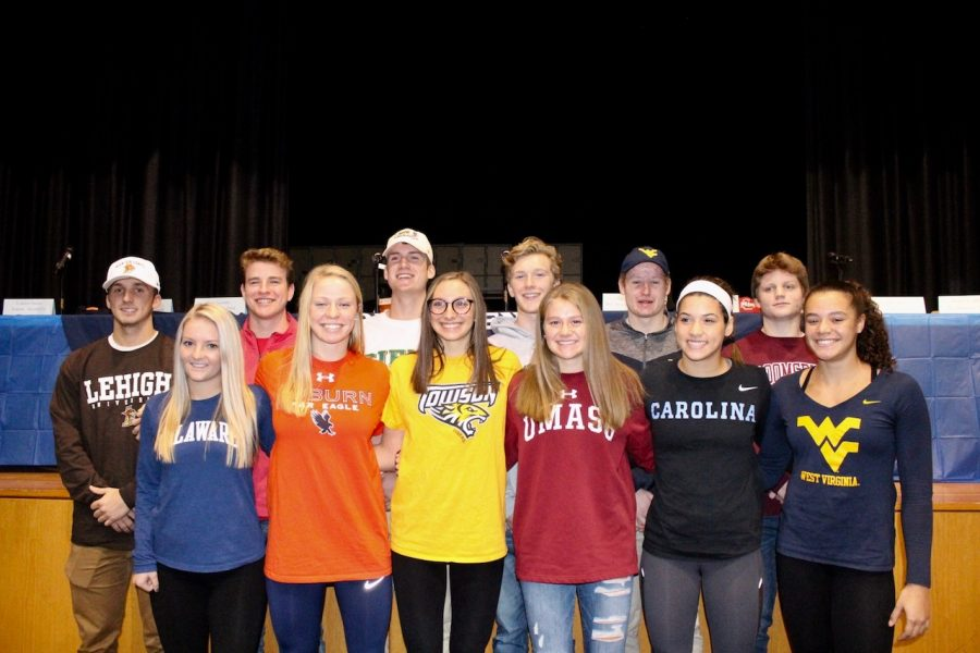 13+North+Penn+seniors+sign+letter+of+intent+to+play+collegiate+athletics.+