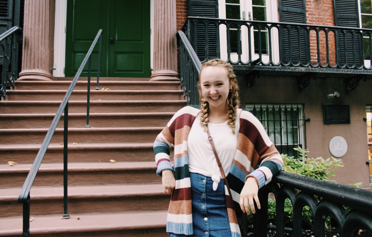 NP graduate Maura Slater poses for a picture in New York City.