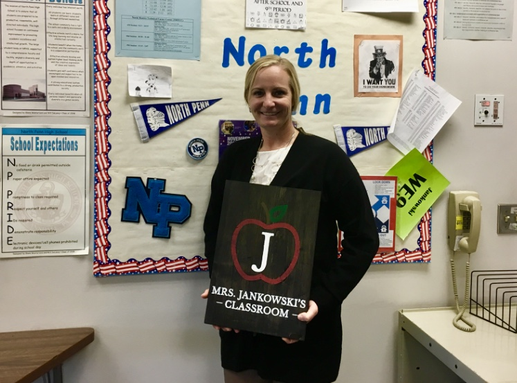 Mrs.+Carrie+Jankowski+has+made+a+positive+impact+teaching+history+at+North+Penn+High+School.+