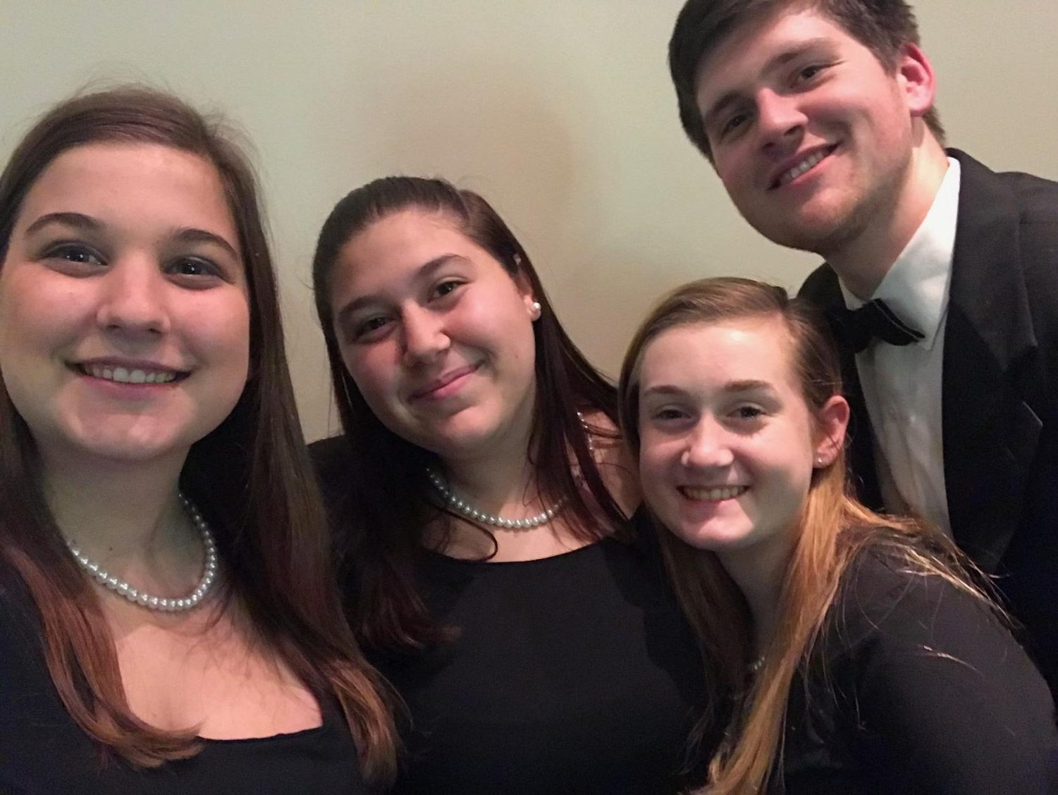 Eppers (far left) with fellow North Penn singers at a choir concert.