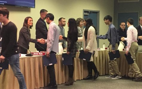 Board recognizes students, approves Crawford Stadium renovations