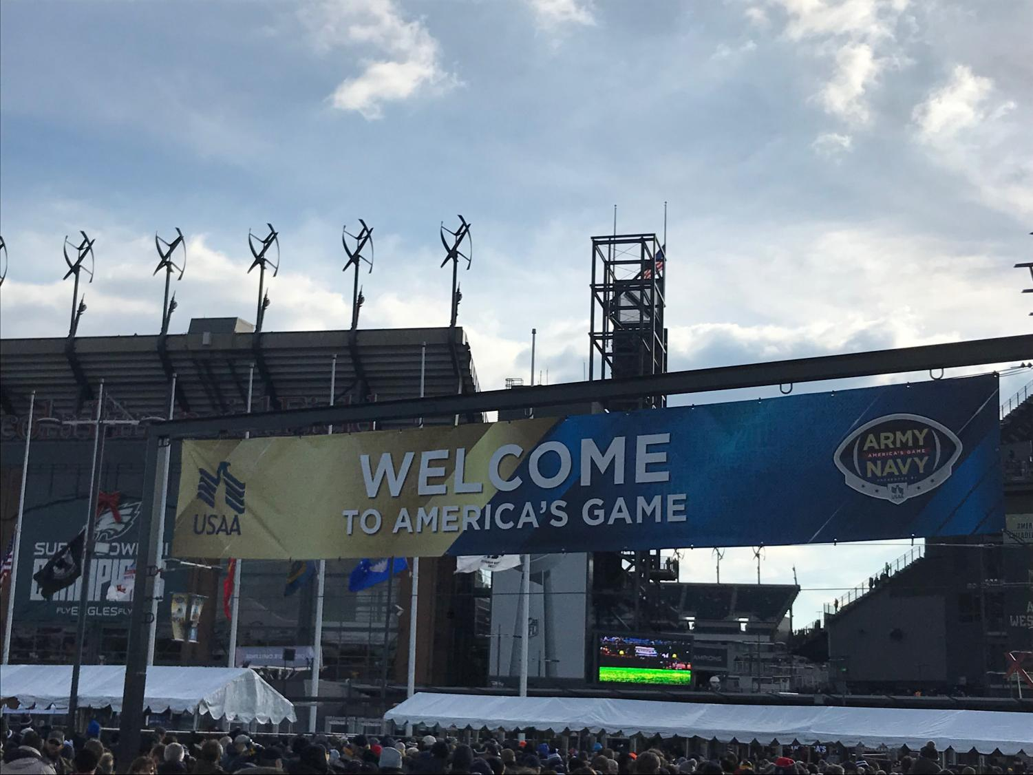 Lincoln Financial Field, the setting for the 119th meeting between the Army Black Knights and Navy Midshipmen