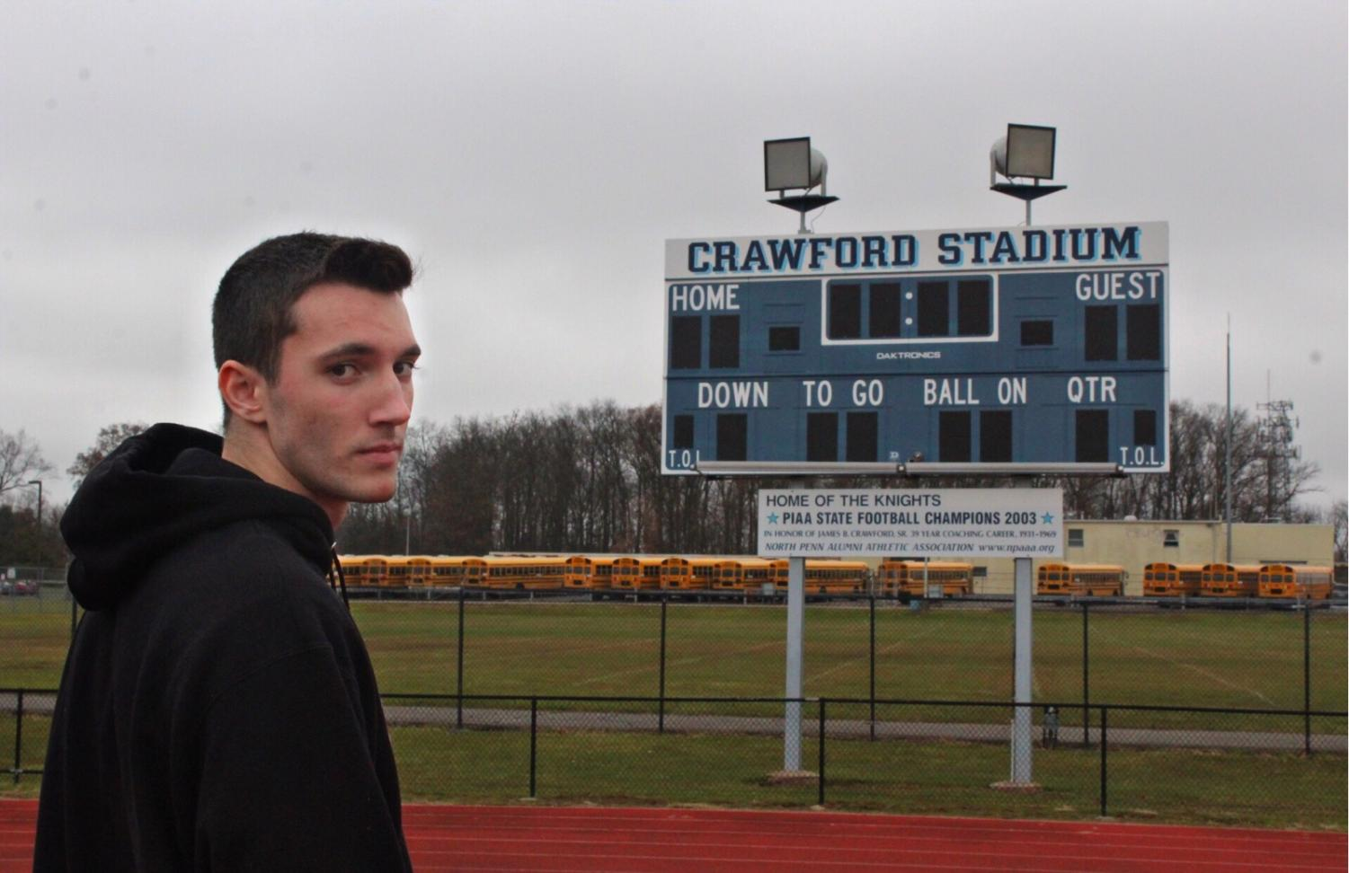 Senior Nick Intrieri's football season came to an end much earlier than he expected.