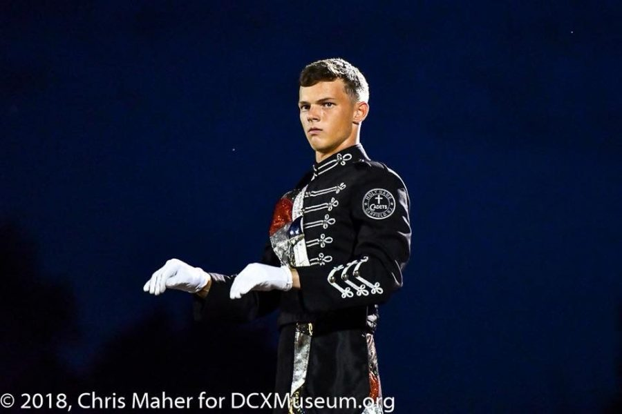 Doug Bell conducting as a Drum Major at his former Drum Corps, Cadets2.