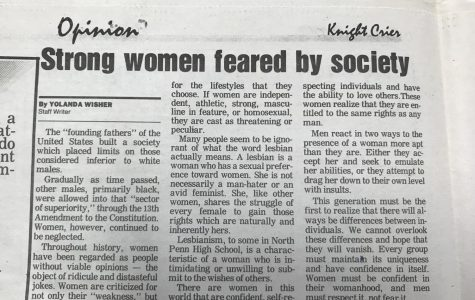 Throwback Thursday: Strong women feared by society: by Yolanda Wisher, 1992