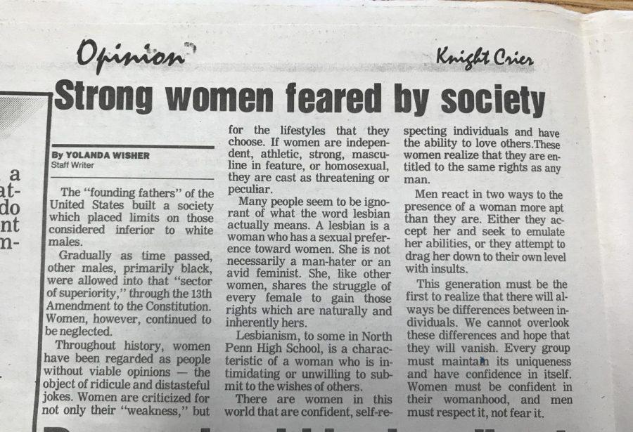 An+article+written+by+Staff+Writer+Yolanda+Wisher+in+1992.
