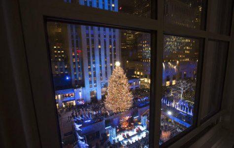 The Rockefeller Center Christmas tree is lit during the 86th annual Rockefeller Center Christmas tree lighting ceremony, Wednesday, Nov. 28, 2018, in New York. (AP Photo/Mary Altaffer)