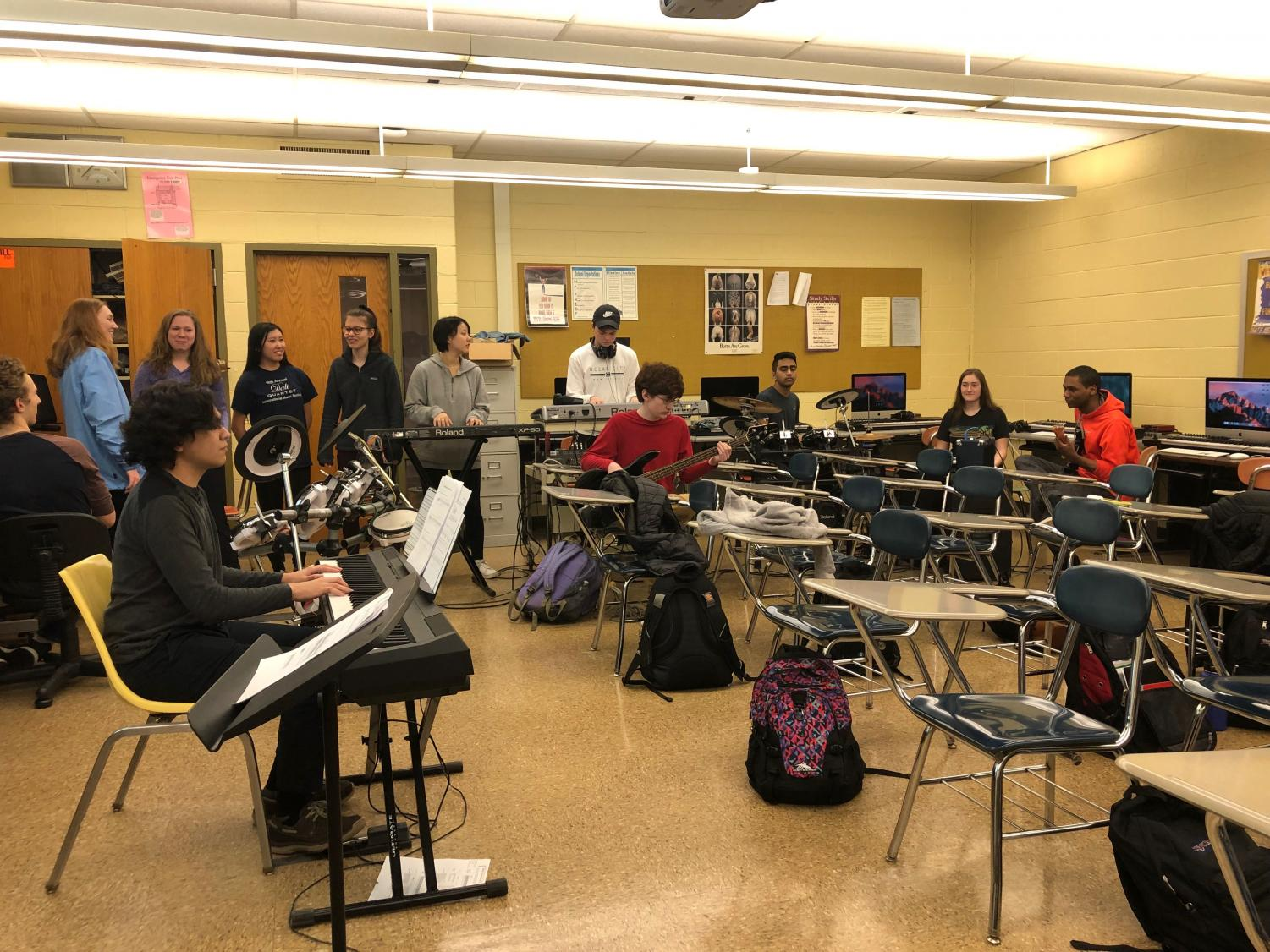 Students practicing in CMT class.