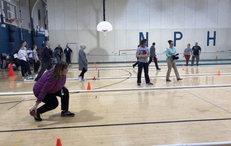 Bocce team plays teachers in successful and supportive match