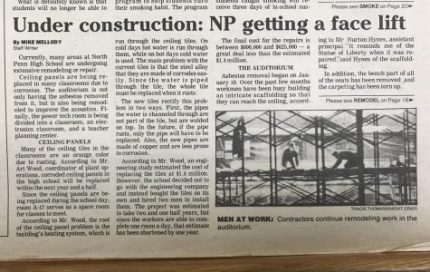 Throwback Thursday: Under Construction, North Penn getting a face lift -1989