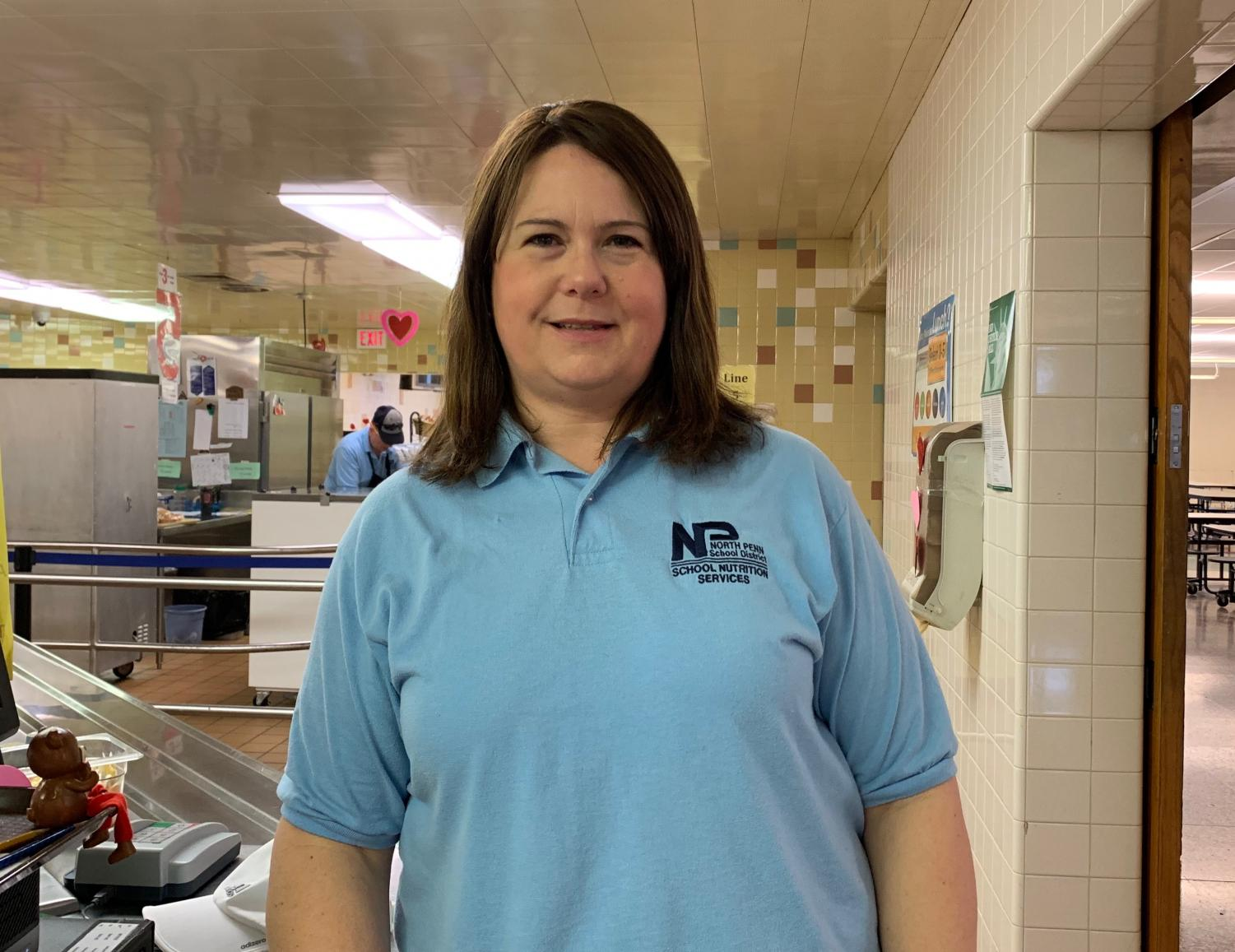 Cafeteria worker Diane Buccafuri works hard every day to ensure that lunch is the best part of the students' day.