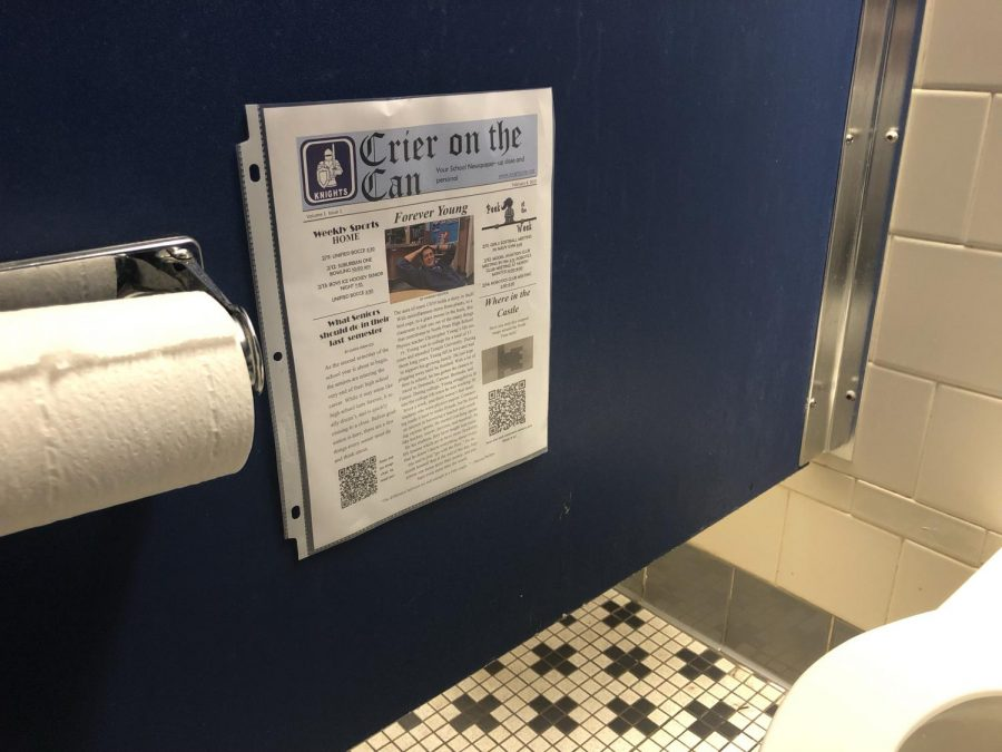 The newest semi-journalism of NPHS is now available right by your stall seat. The Crier on the Can makes its debut February 8th.
