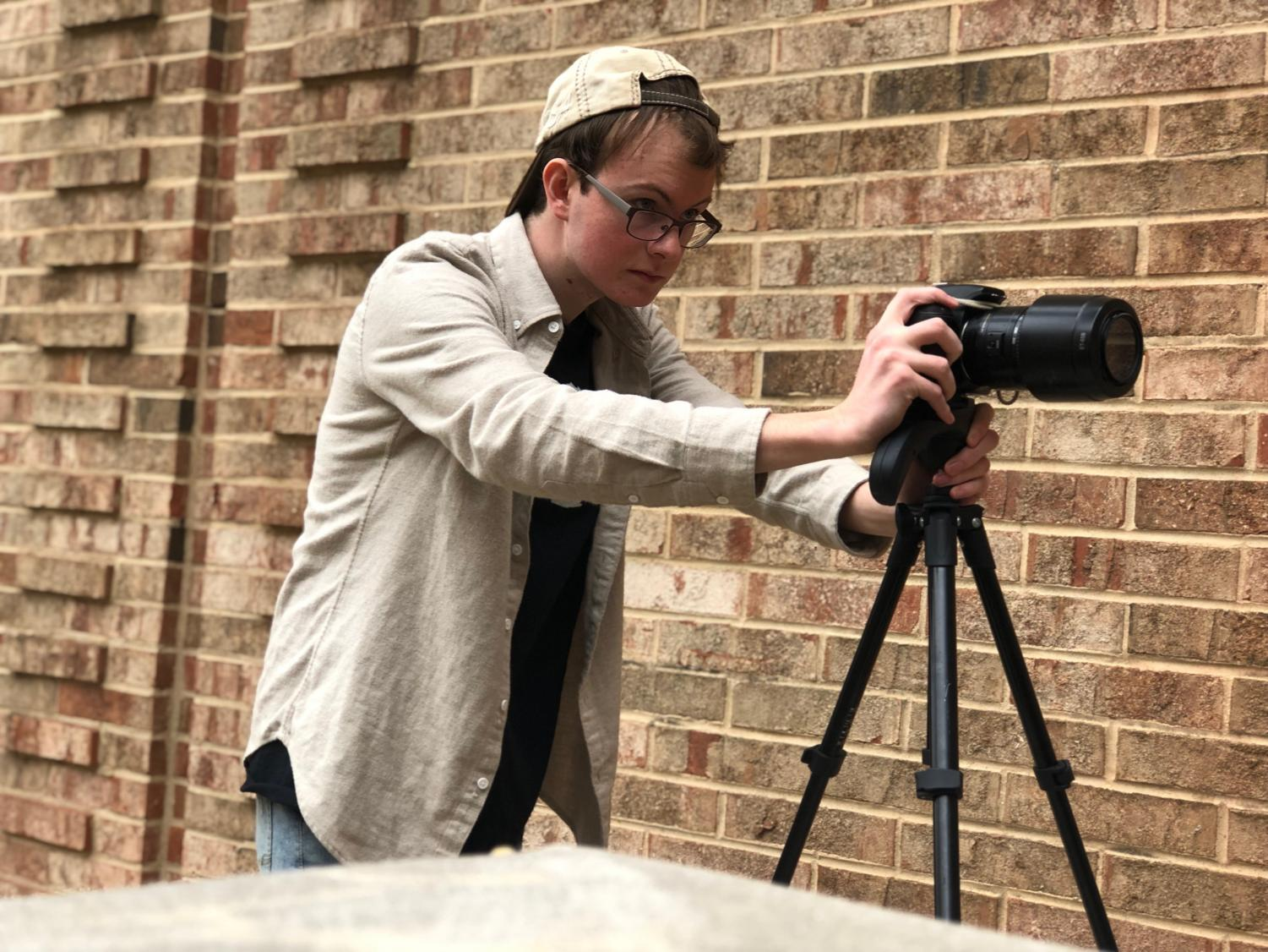 Senior Aaron Menzo hopes to continue his passion for film as well as for music as the next chapter of his life begins.