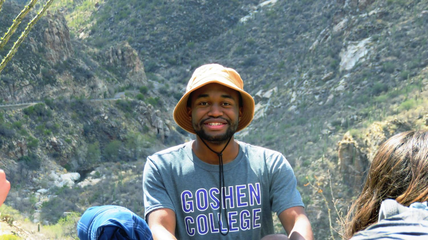 Delphin Monga is passionate about traveling, as here he enjoys a backpacking adventure in Tucson, Arizona.