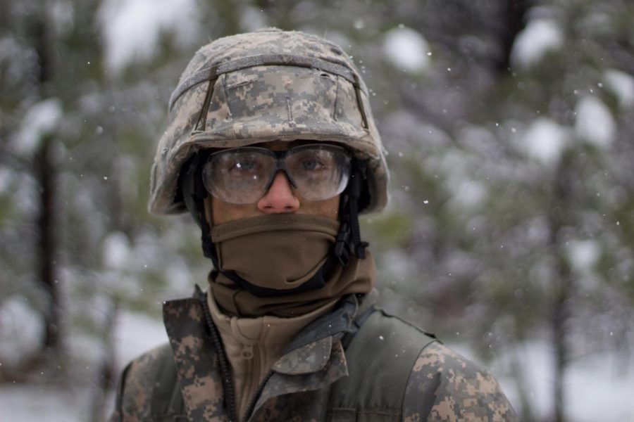 Ben Dogonniuck takes part in a three day long Field Training Exercise with Army ROTC.