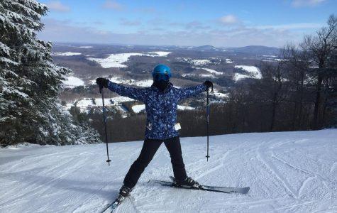 James skiing at her favorite place, Elk Mountain.
