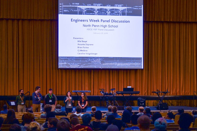 Engineering students engage with American Society of Civil Engineers