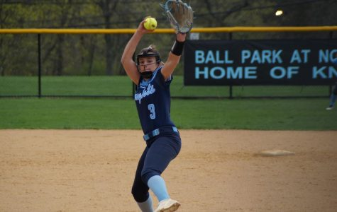 Pitcher Mady Volpe delivers a pitch.