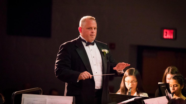 North Penns Ted Heller conducting an ensemble at NPHS..