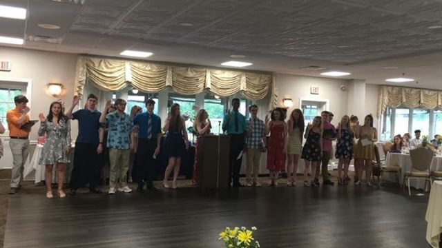 Thespian Troupe #5464 welcomes new inductees at annual banquet