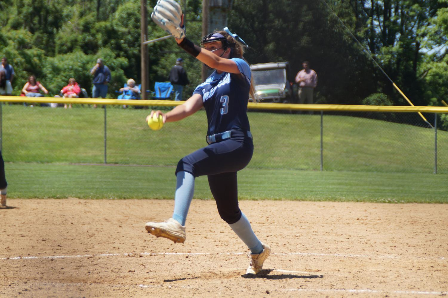 Mady Volpe picked up the complete game shutout victory by striking out 15 batters and allowing only 1 hit.