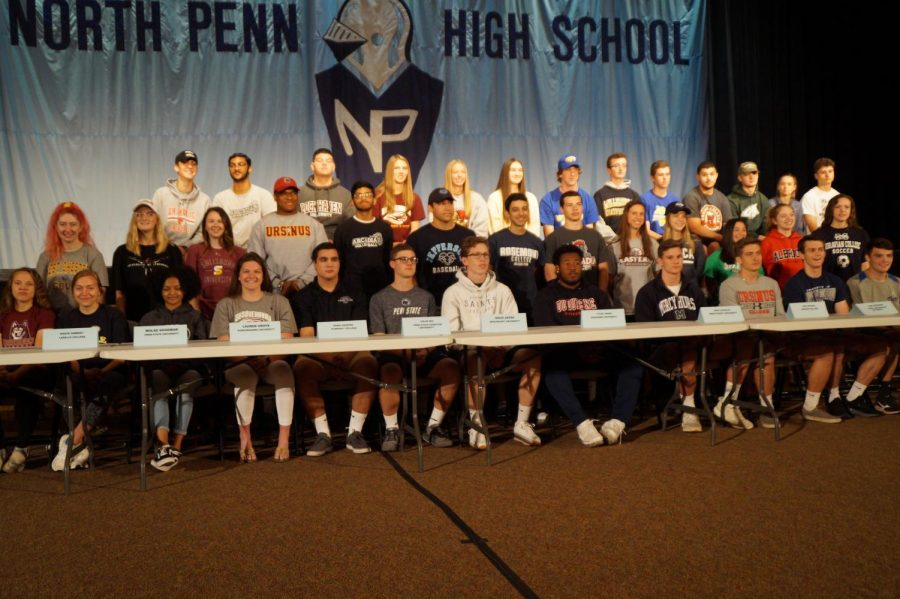 North+Penn+recognized+student+athletes+that+will+continue+their+academic+and+athletic+careers+at+the+collegiate+level.