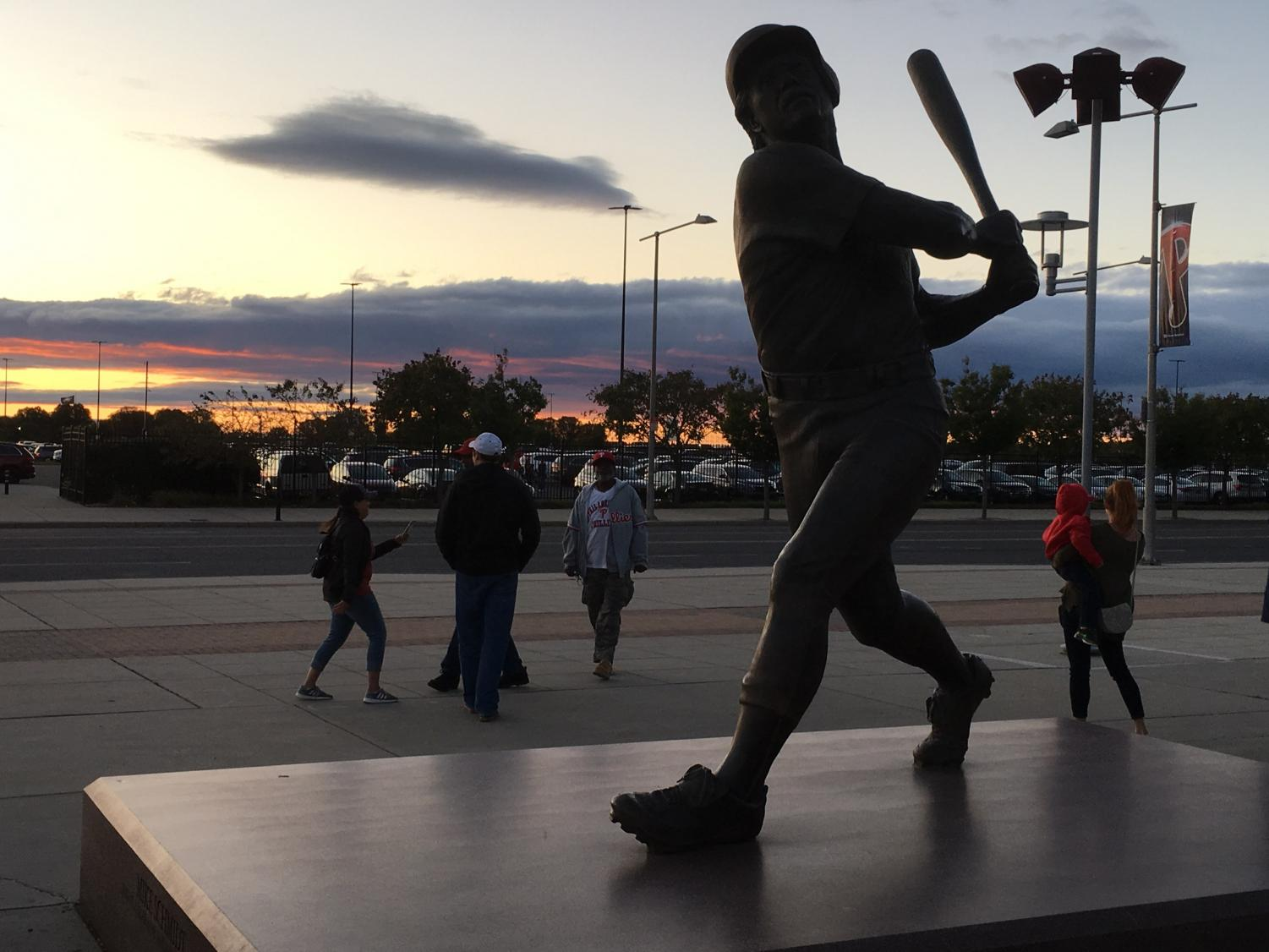 Many athletes, such as Mike Schmidt, have a statue of themselves in Philadelphia's Sports Complex.