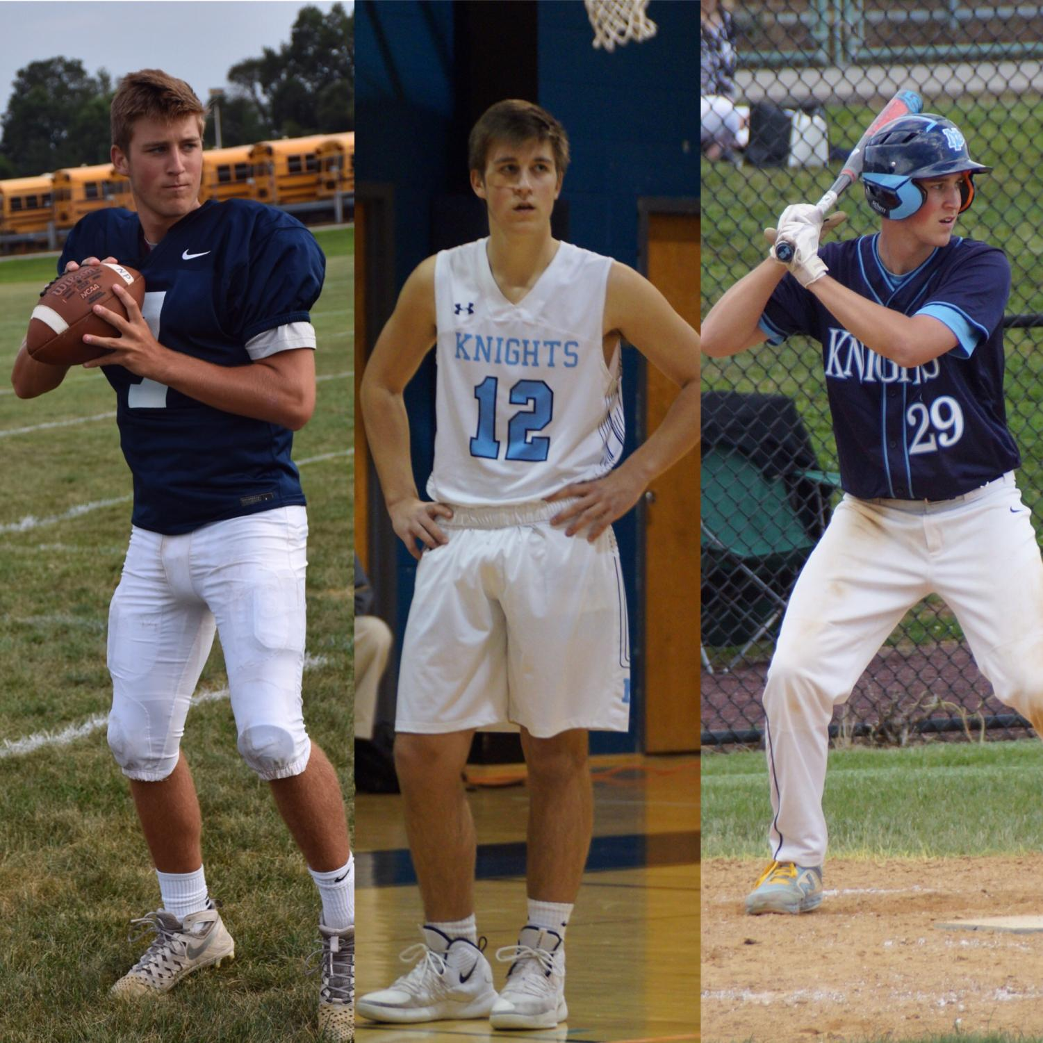 Senior Kolby Barrow is making contributions on the football, basketball, and baseball team as a three-sport athlete.