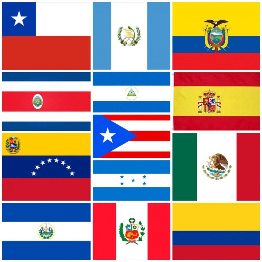 Banderas+de+los+pa%C3%ADses+hispanohablante.