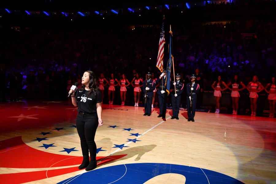 JROTC+Color+Guard+had+the+honor+of+presenting+the+American+and+Pennsylvanian+Flags+at+a+76ers+game.