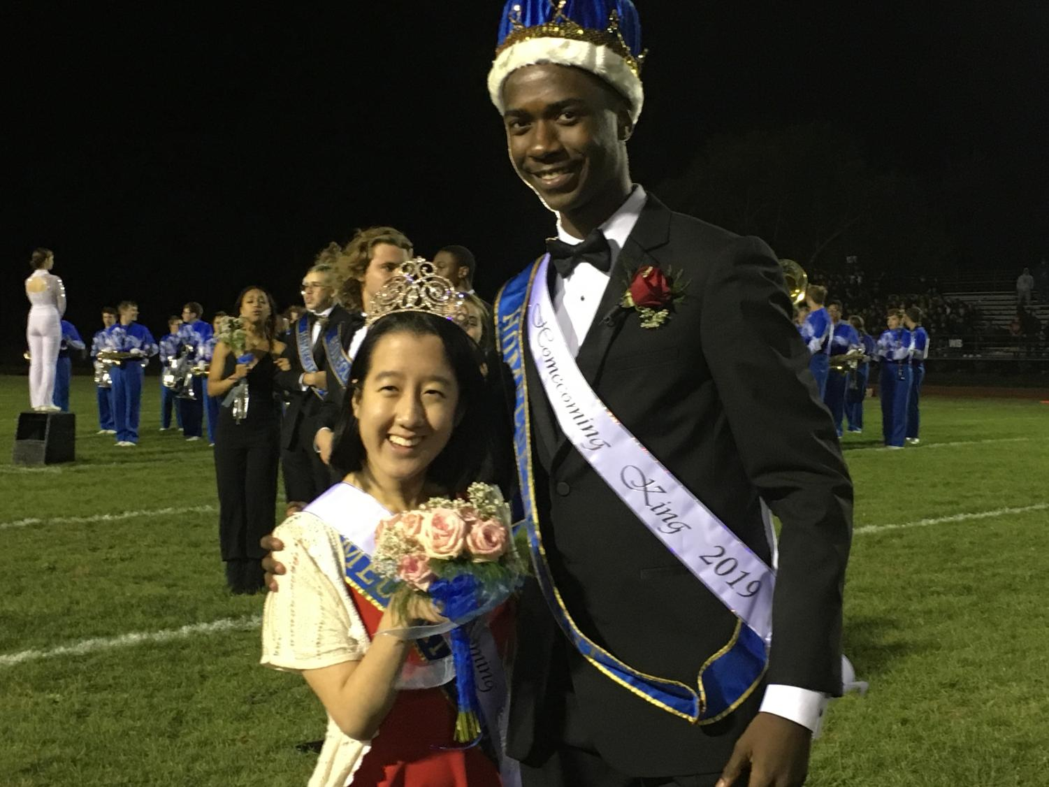 Crosby and Chi pose for a picture after being crowned homecoming king and queen.