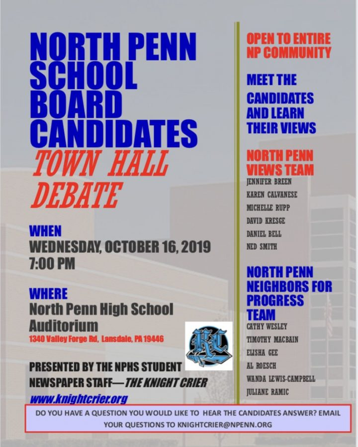 Knight Crier staff to host School Board Candidates Town Hall