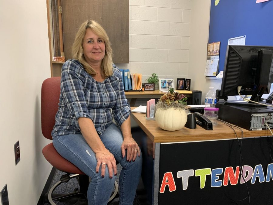 Mrs.+Foster+is+now+North+Penn+High+School%27s+newest+attendance+secretary+for+D103+after+working+10+years+at+Pennfield+Middle+School+as+the+receptionist.