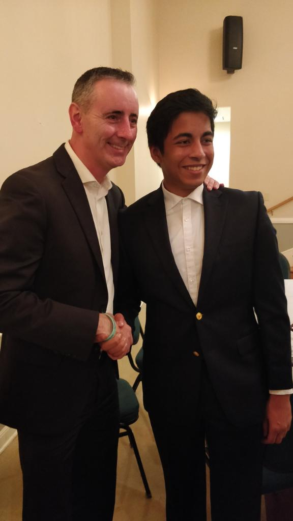 Ansh Sharma with Congressman Brian Fitzpatrick(R-PA) at a recent fundriaser.