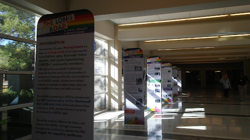 This week, a celebration of LGBTQ+ rights was put on full display in the  lobby.