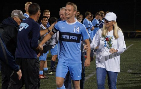 The Knights honor Carter Houlihan on senior night as he has been a 4-year starter for the soccer squad.