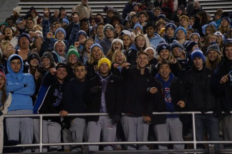 The student section that included 4 buses of students that travelled from Lansdale to Hershey to watch the Boy