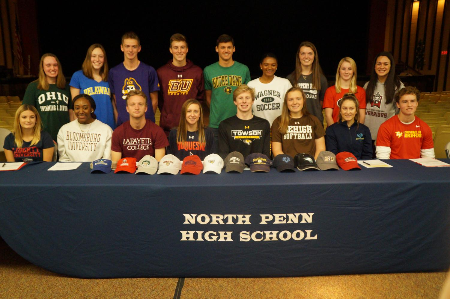 The 17 athletes to sign letters of intent.