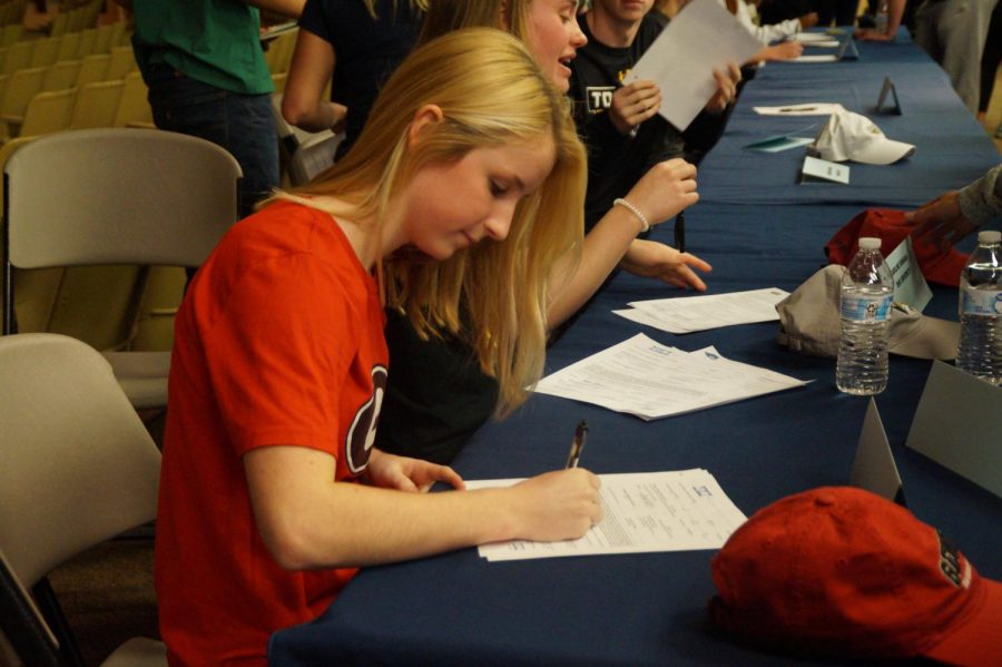 Meghan Wenzel, a two-time state champ, will attend the University of Georgia to major in sports and exercise science while diving.