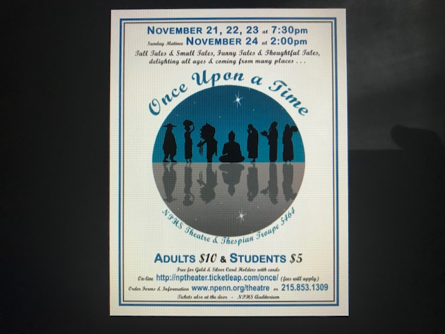 NPHS+Theatre+welcomes+the+community+to+their+2019+fall+play%2C+%22Once+Upon+A+Time%22.