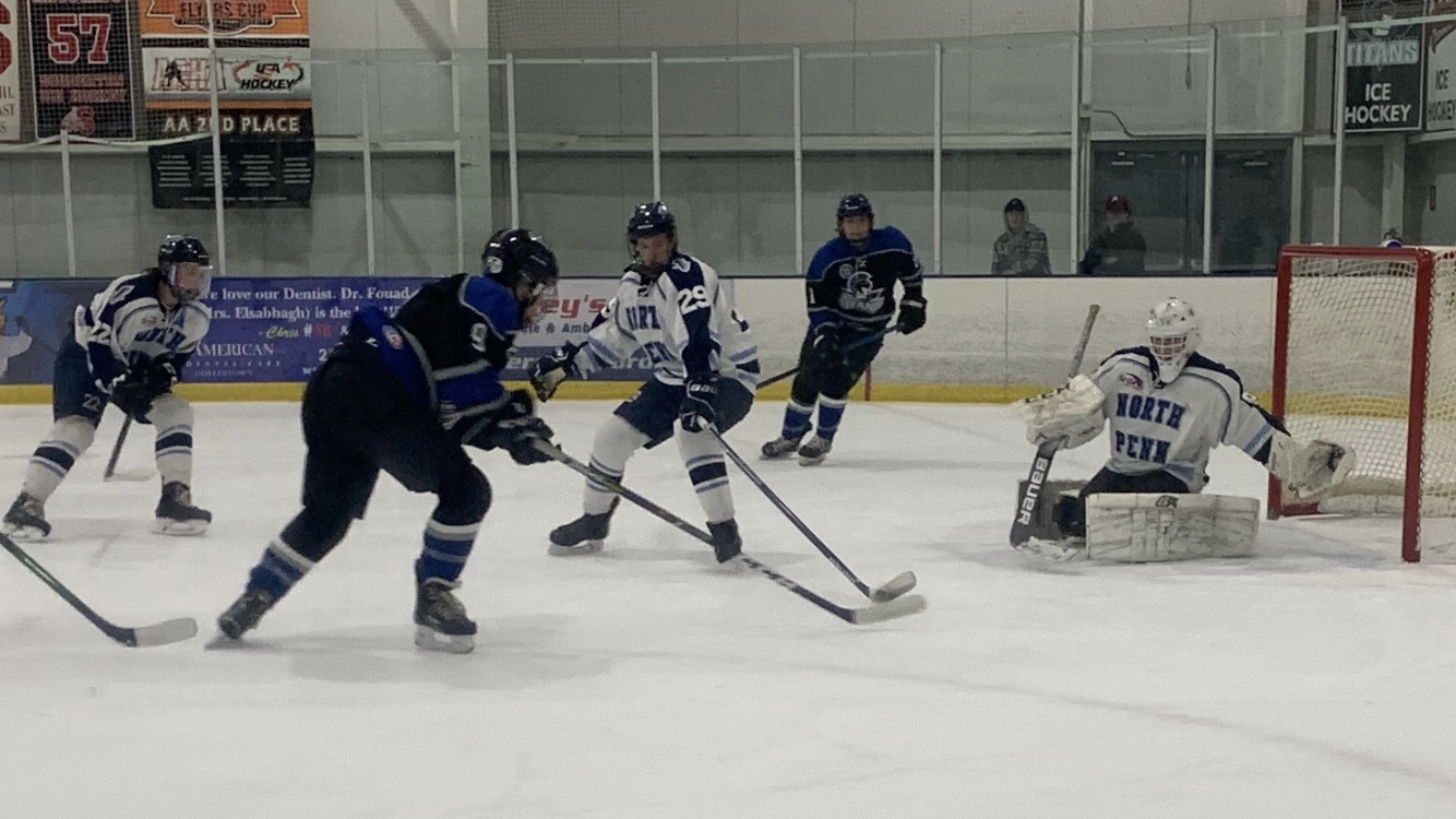Titans control puck possession deep in North Penn's end of the ice