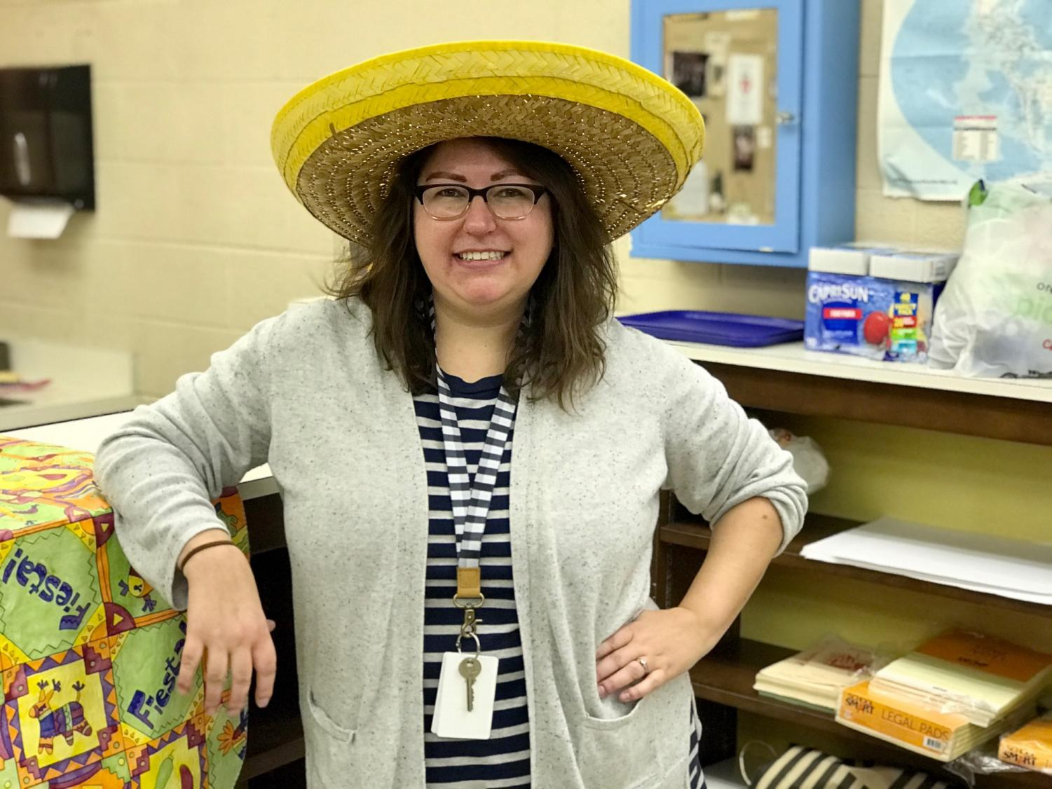 Condon in the World Language Department's planning center. She was drawn to Spanish because she feels that it is
