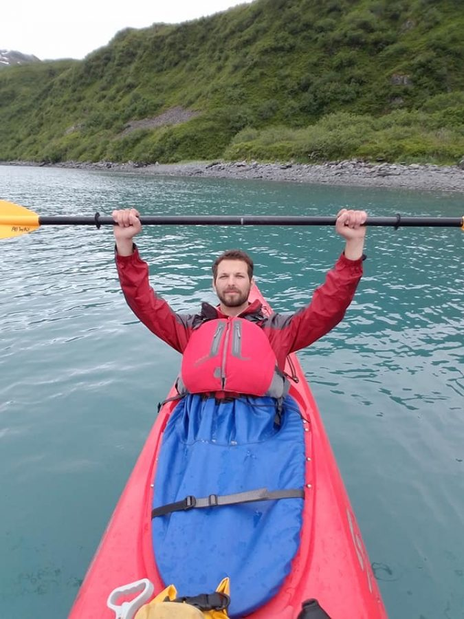 Dello+Buono+on+a+kayak+in+Alaska+last+summer.